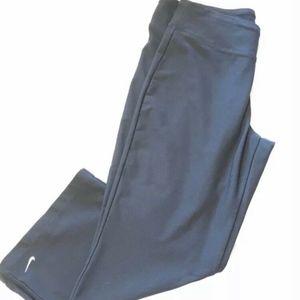 Nike Dri-Fit Capri Pants Navy Blue Open Leg fitted